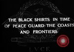 Image of Italian Black Shirt Guards Italy, 1929, second 8 stock footage video 65675043260