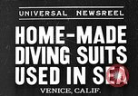Image of Home made diving suit Venice Beach Los Angeles California USA, 1935, second 1 stock footage video 65675043334