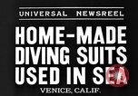 Image of Home made diving suit Venice Beach Los Angeles California USA, 1935, second 3 stock footage video 65675043334