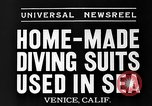 Image of Home made diving suit Venice Beach Los Angeles California USA, 1935, second 7 stock footage video 65675043334