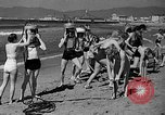 Image of Home made diving suit Venice Beach Los Angeles California USA, 1935, second 16 stock footage video 65675043334