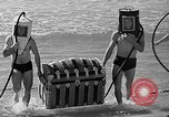 Image of Home made diving suit Venice Beach Los Angeles California USA, 1935, second 59 stock footage video 65675043334