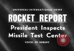Image of President Dwight D Eisenhower Cape Canaveral Florida USA, 1960, second 15 stock footage video 65675043364
