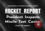Image of President Dwight D Eisenhower Cape Canaveral Florida USA, 1960, second 16 stock footage video 65675043364