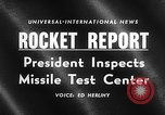Image of President Dwight D Eisenhower Cape Canaveral Florida USA, 1960, second 17 stock footage video 65675043364