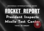 Image of President Dwight D Eisenhower Cape Canaveral Florida USA, 1960, second 18 stock footage video 65675043364