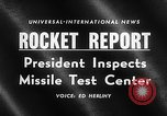 Image of President Dwight D Eisenhower Cape Canaveral Florida USA, 1960, second 19 stock footage video 65675043364