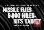 Image of Supersonic Missile Florida United States USA, 1957, second 16 stock footage video 65675043384