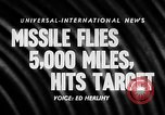 Image of Supersonic Missile Florida United States USA, 1957, second 18 stock footage video 65675043384