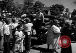 Image of Narrow crowded commercial street Puerto Rico, 1950, second 35 stock footage video 65675043413