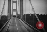 Image of Tacoma Narrows bridge collaps Tacoma Washington USA, 1940, second 23 stock footage video 65675043465