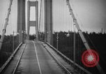 Image of Tacoma Narrows bridge collaps Tacoma Washington USA, 1940, second 24 stock footage video 65675043465