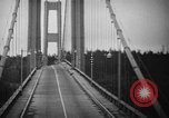 Image of Tacoma Narrows bridge collaps Tacoma Washington USA, 1940, second 25 stock footage video 65675043465