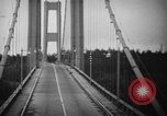 Image of Tacoma Narrows bridge collaps Tacoma Washington USA, 1940, second 28 stock footage video 65675043465