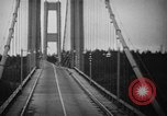 Image of Tacoma Narrows bridge collaps Tacoma Washington USA, 1940, second 29 stock footage video 65675043465