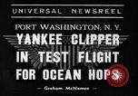 Image of Trans Atlantic seaplane New York United States USA, 1939, second 1 stock footage video 65675043518