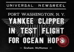 Image of Trans Atlantic seaplane New York United States USA, 1939, second 2 stock footage video 65675043518