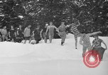 Image of bathers swim in icy water Oregon Mount Hood USA, 1938, second 10 stock footage video 65675043530