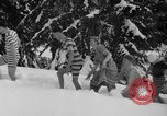 Image of bathers swim in icy water Oregon Mount Hood USA, 1938, second 12 stock footage video 65675043530