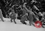Image of bathers swim in icy water Oregon Mount Hood USA, 1938, second 13 stock footage video 65675043530
