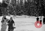 Image of bathers swim in icy water Oregon Mount Hood USA, 1938, second 16 stock footage video 65675043530