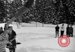 Image of bathers swim in icy water Oregon Mount Hood USA, 1938, second 17 stock footage video 65675043530