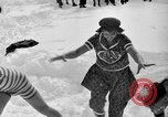 Image of bathers swim in icy water Oregon Mount Hood USA, 1938, second 22 stock footage video 65675043530