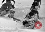 Image of bathers swim in icy water Oregon Mount Hood USA, 1938, second 24 stock footage video 65675043530