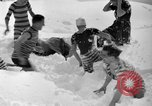 Image of bathers swim in icy water Oregon Mount Hood USA, 1938, second 25 stock footage video 65675043530