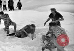 Image of bathers swim in icy water Oregon Mount Hood USA, 1938, second 26 stock footage video 65675043530