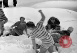 Image of bathers swim in icy water Oregon Mount Hood USA, 1938, second 27 stock footage video 65675043530