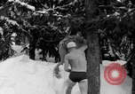 Image of bathers swim in icy water Oregon Mount Hood USA, 1938, second 29 stock footage video 65675043530