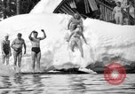 Image of bathers swim in icy water Oregon Mount Hood USA, 1938, second 35 stock footage video 65675043530