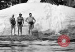 Image of bathers swim in icy water Oregon Mount Hood USA, 1938, second 44 stock footage video 65675043530
