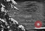 Image of bathers swim in icy water Oregon Mount Hood USA, 1938, second 47 stock footage video 65675043530