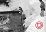 Image of bathers swim in icy water Oregon Mount Hood USA, 1938, second 51 stock footage video 65675043530