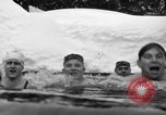 Image of bathers swim in icy water Oregon Mount Hood USA, 1938, second 53 stock footage video 65675043530