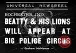 Image of Big Police Circus Rochester Indiana USA, 1938, second 1 stock footage video 65675043531