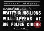 Image of Big Police Circus Rochester Indiana USA, 1938, second 3 stock footage video 65675043531