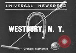 Image of International Polo Cup series Westbury New York USA, 1939, second 2 stock footage video 65675043543