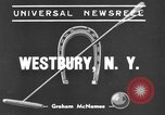 Image of International Polo Cup series Westbury New York USA, 1939, second 3 stock footage video 65675043543