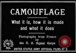 Image of World War I Camouflage France, 1918, second 15 stock footage video 65675043544