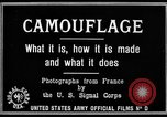 Image of World War I Camouflage France, 1918, second 19 stock footage video 65675043544