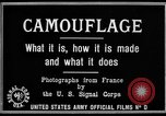Image of World War I Camouflage France, 1918, second 21 stock footage video 65675043544