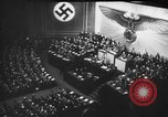 Image of Adolf Hitler predicts annihilation of the Jews in Europe Berlin Germany, 1939, second 49 stock footage video 65675047339