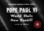 Image of Pope Paul VI Vatican City Rome Italy, 1963, second 1 stock footage video 65675050673
