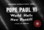 Image of Pope Paul VI Vatican City Rome Italy, 1963, second 4 stock footage video 65675050673