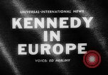 Image of President Kennedy Germany, 1963, second 2 stock footage video 65675050674