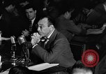 Image of Herbert Biberman questioned at HUAC United States USA, 1947, second 49 stock footage video 65675050677