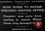 Image of repair of White House Washington DC USA, 1930, second 1 stock footage video 65675050768